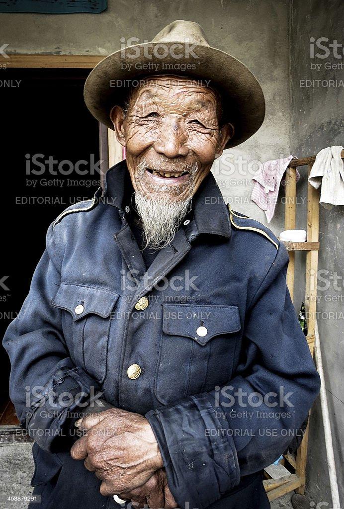 Old Tibetan Man stock photo