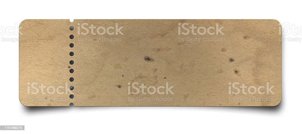 Old Ticket (Clipping Path ) stock photo