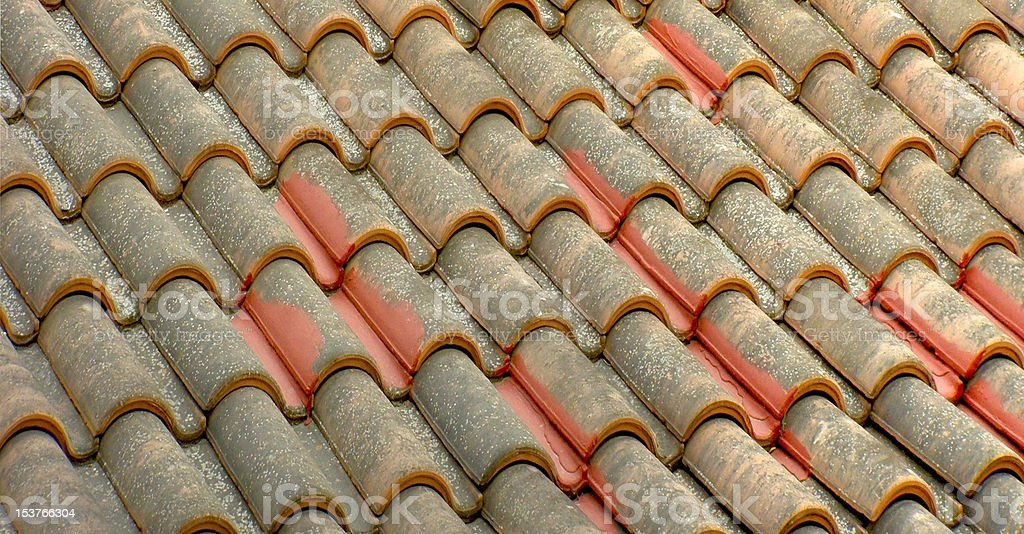 old  tile  roof royalty-free stock photo