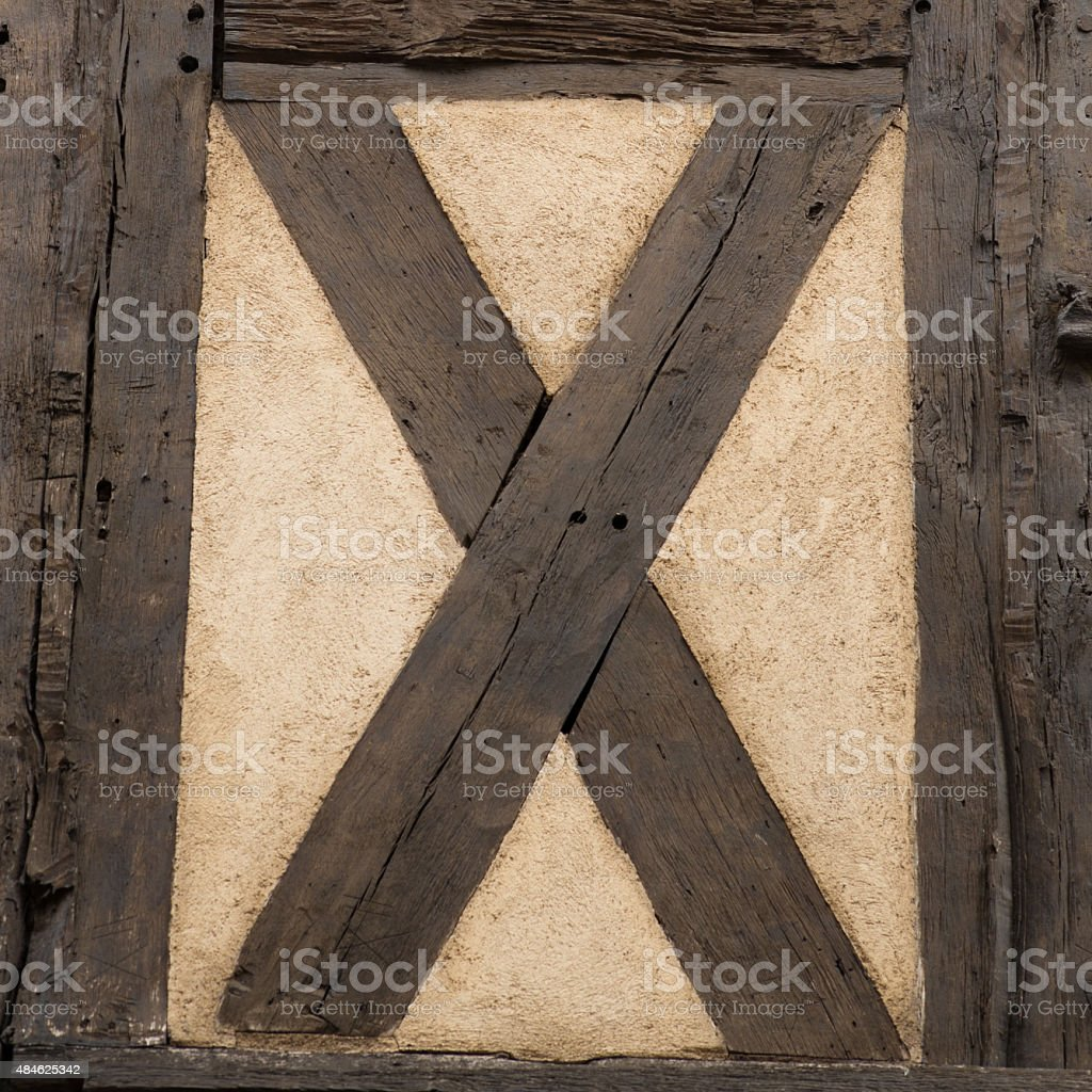 Old timbered wall stock photo