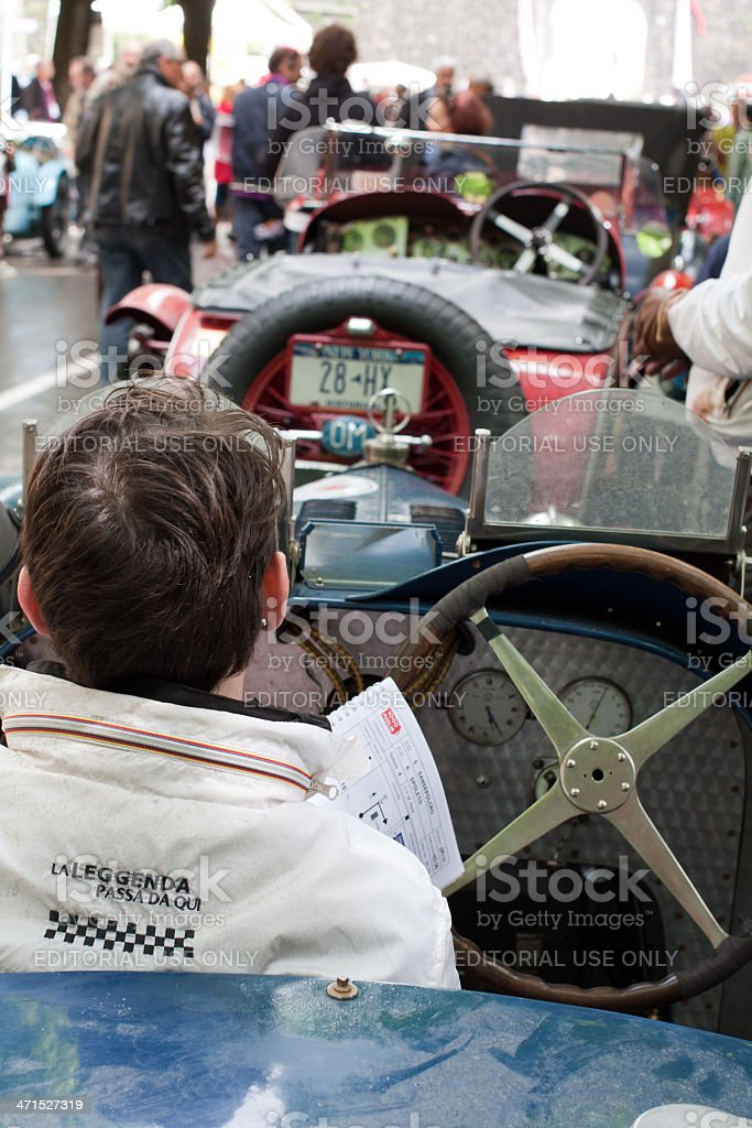 Old time cars at Mille Miglia 2013 royalty-free stock photo