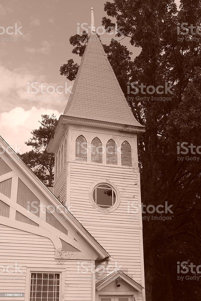 Old Time Church stock photo