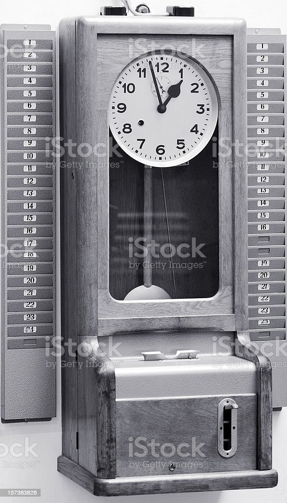 Old Time Clock stock photo