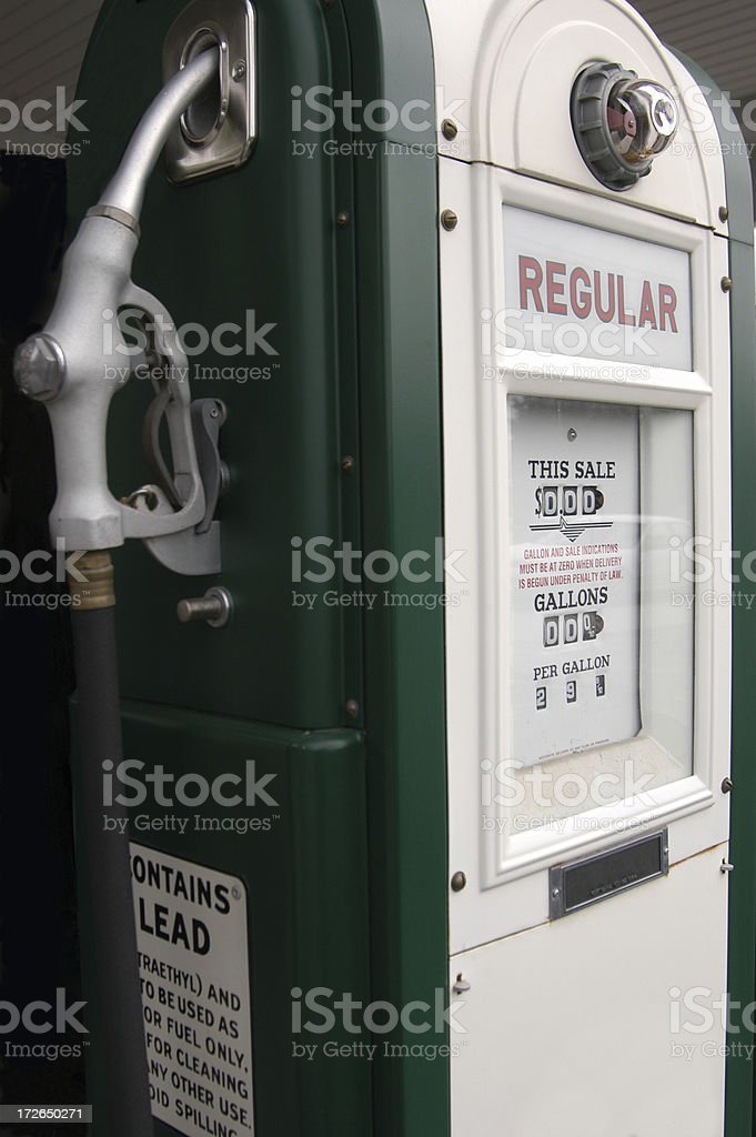 Old Time Gas Pump royalty-free stock photo