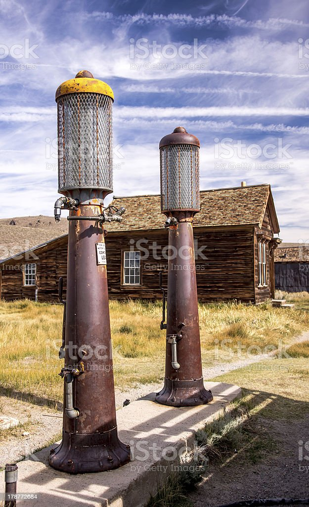 Old Time Gas Pumps royalty-free stock photo