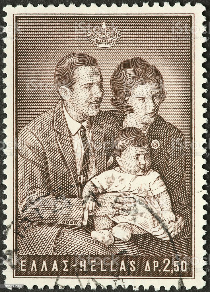 old time Greek royal family stock photo