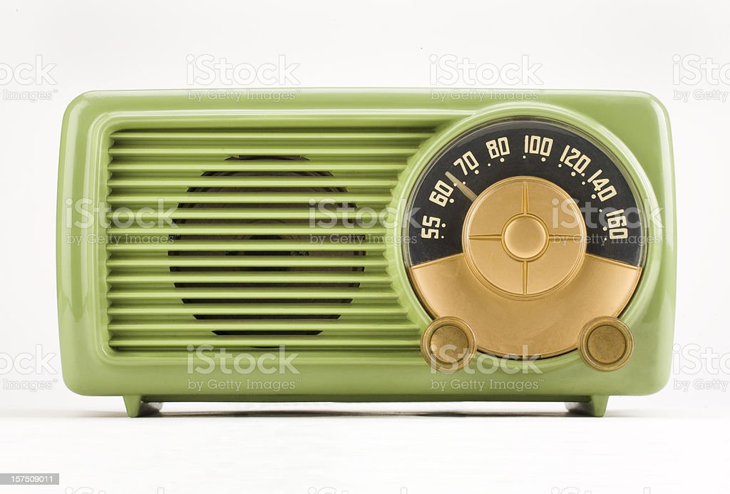 Old Time Green Radio - adobe RGB stock photo