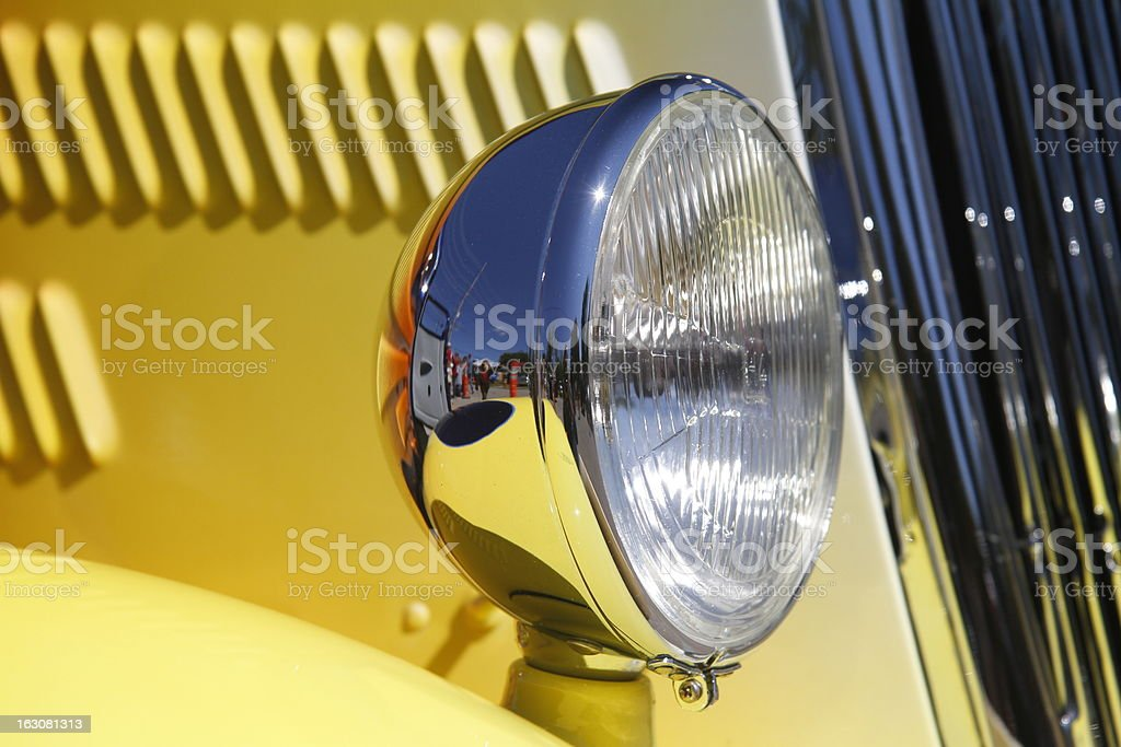 Old time headlight royalty-free stock photo