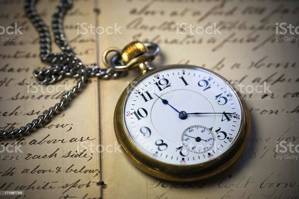 Old Time Keeper stock photo