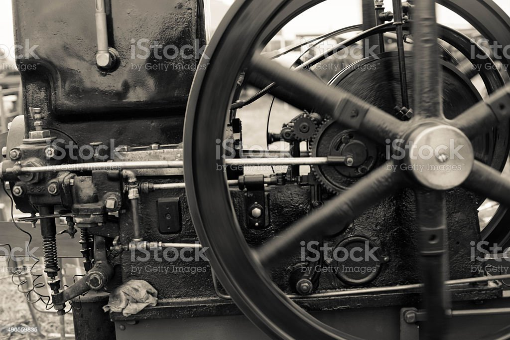 Old Time Machine stock photo
