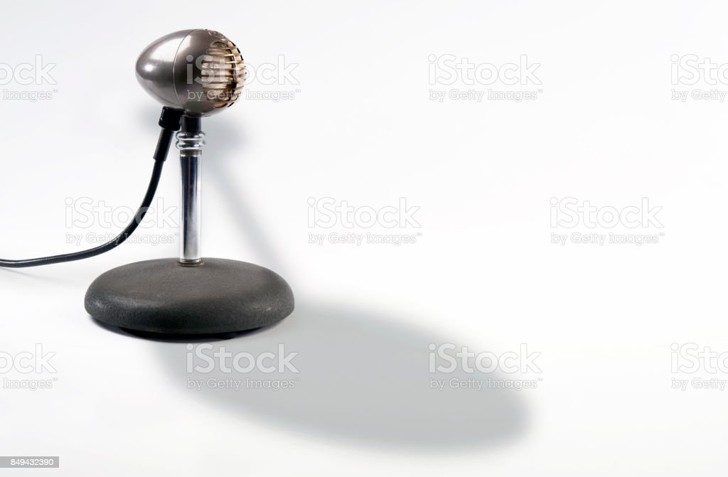 Old Time Microphone. stock photo