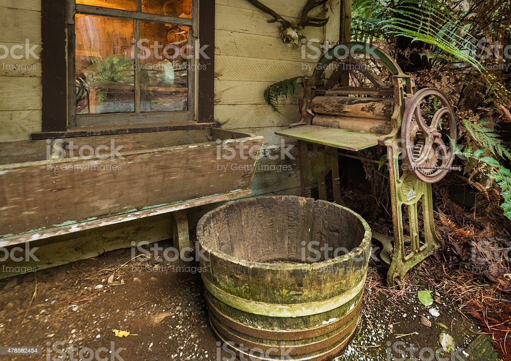 Old Time Wash Area stock photo