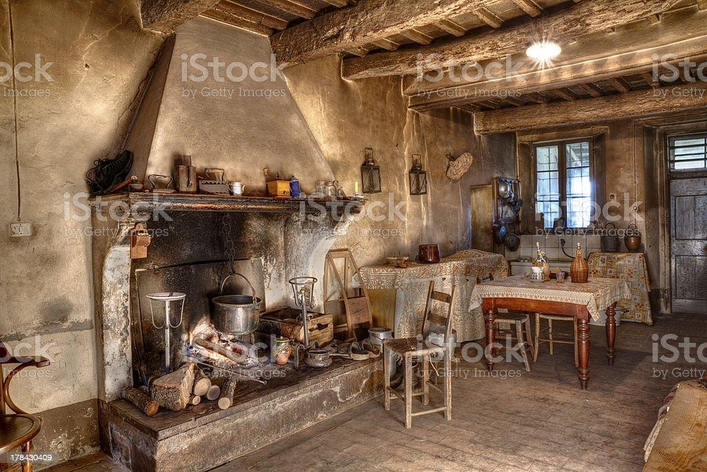 old times farmhouse stock photo