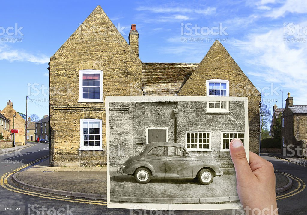 Old times photo collage royalty-free stock photo