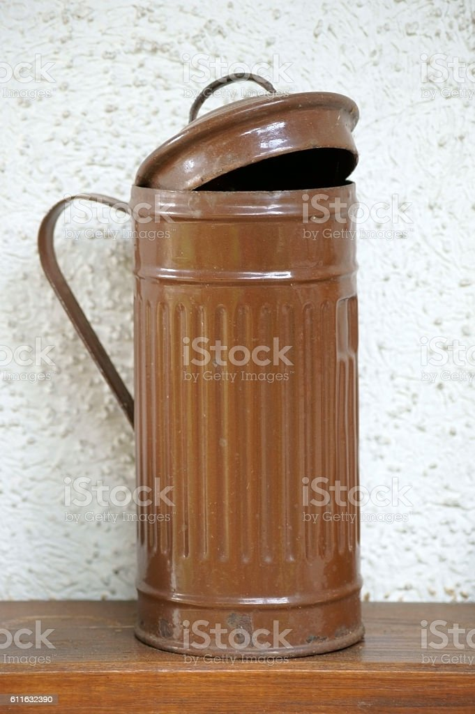 Old tin can stock photo