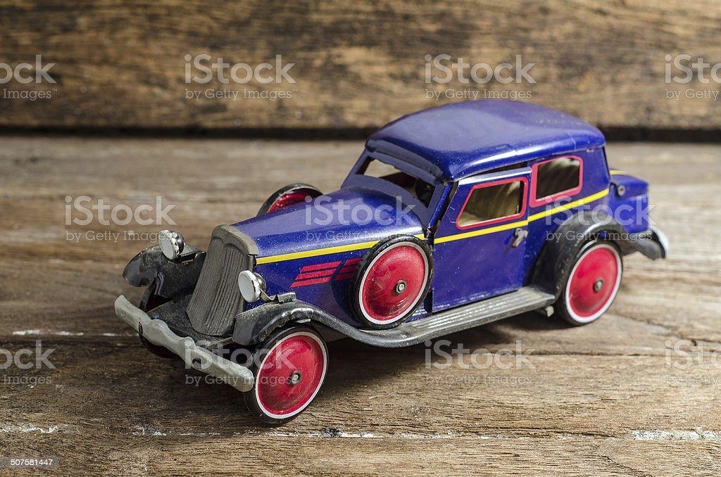 old tin retro car stock photo