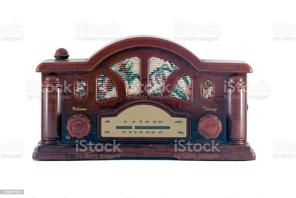 Old tiny radio stock photo