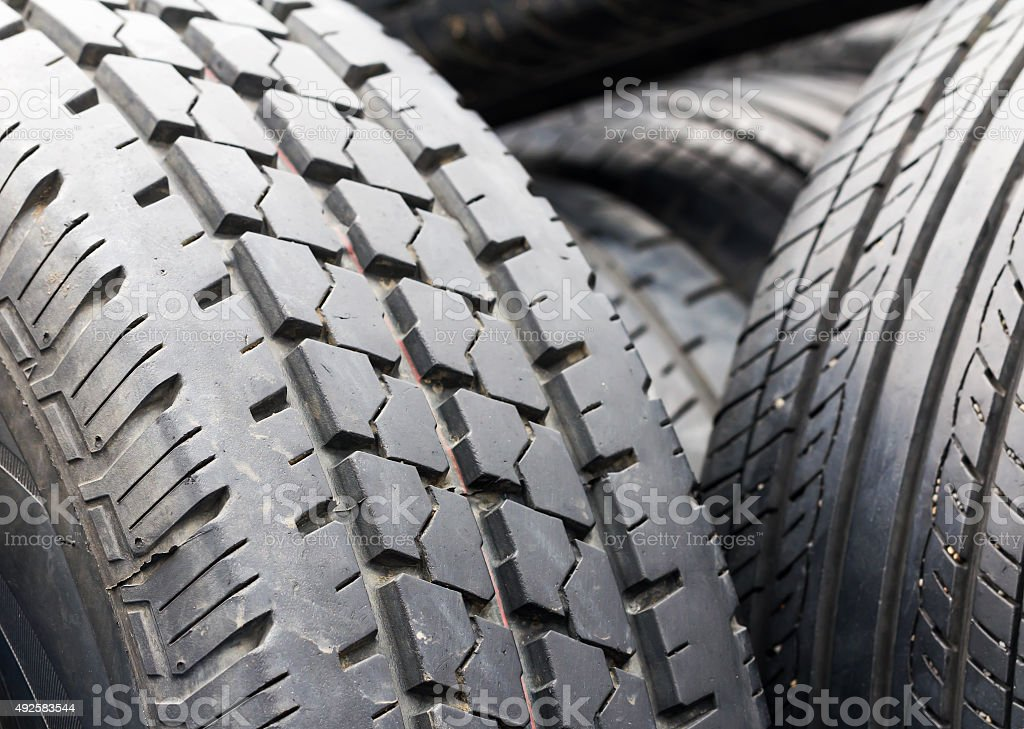 Old tires stock photo