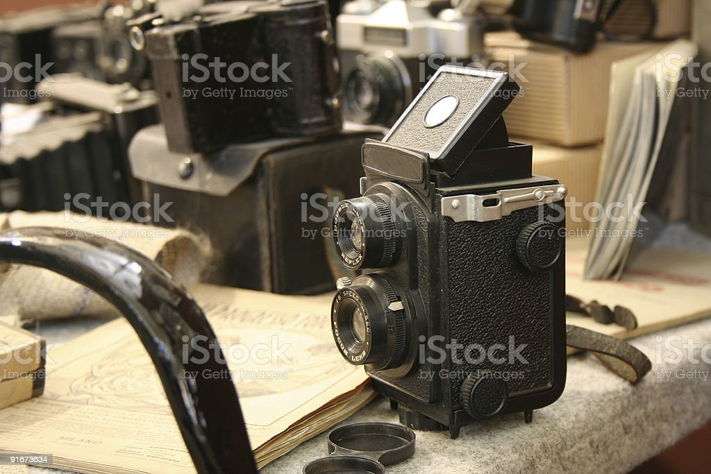 Old TLR Camera royalty-free stock photo