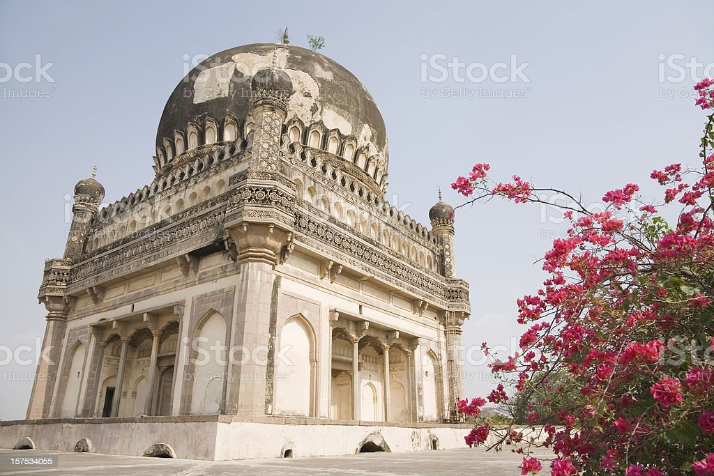 Old tomb in Hyderabad stock photo