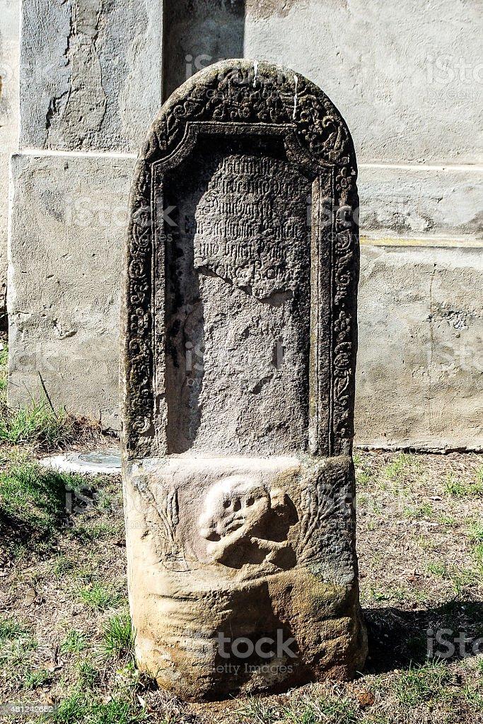 Old tomb in Sighisoara , Romania stock photo