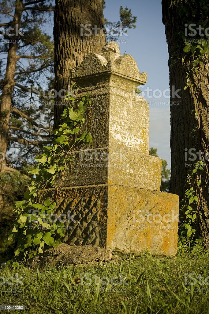 Old Tombstone stock photo