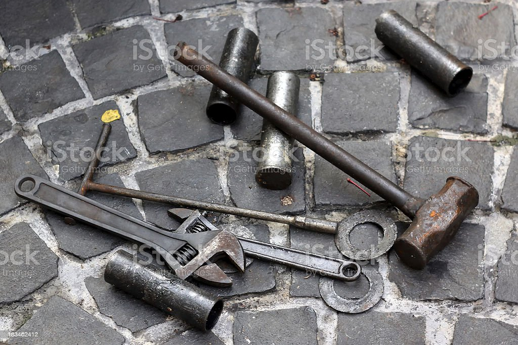 old tool set royalty-free stock photo