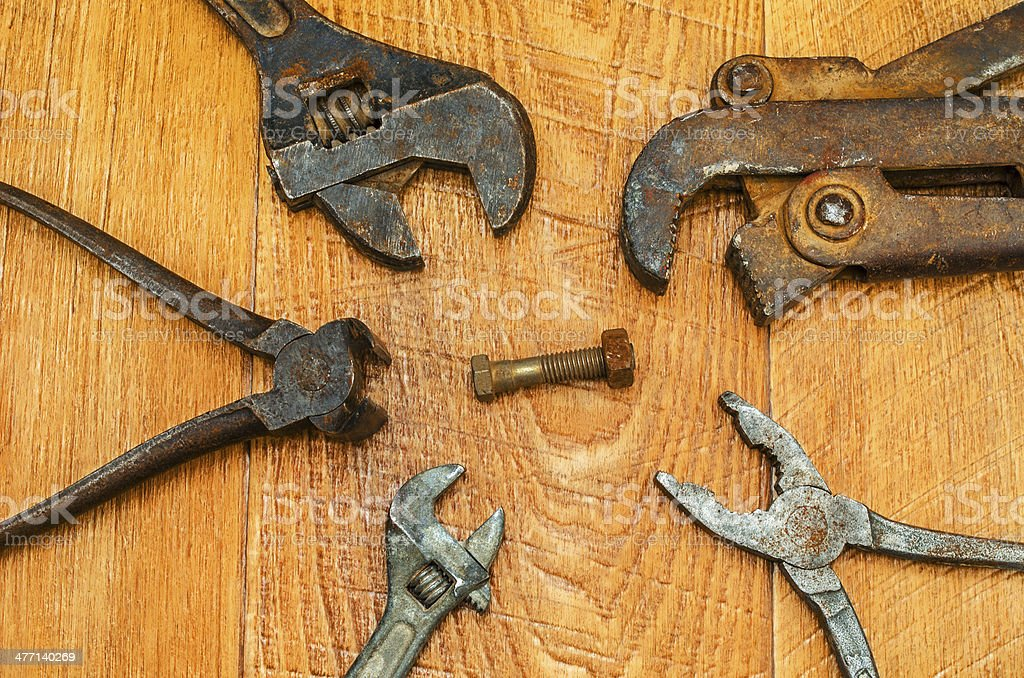 Old tools. royalty-free stock photo