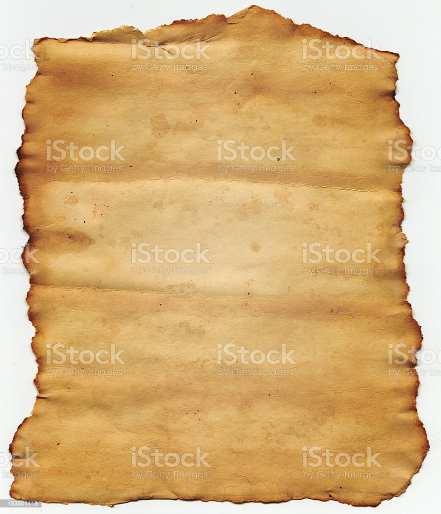 Old torn paper royalty-free stock photo