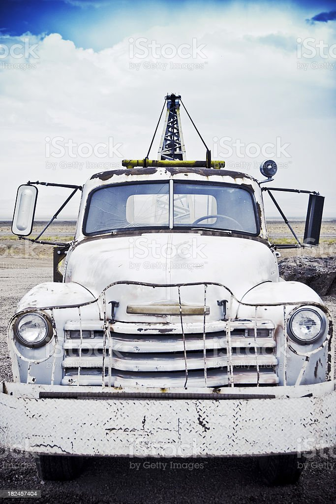 Old tow truck royalty-free stock photo