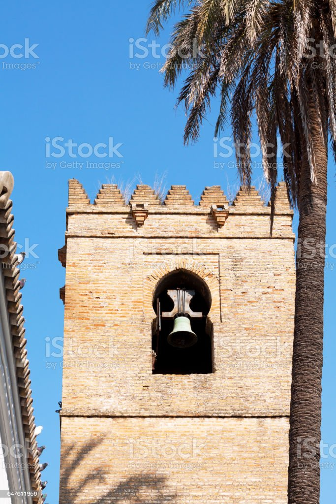 Old tower in mauretian style in Sevilla stock photo