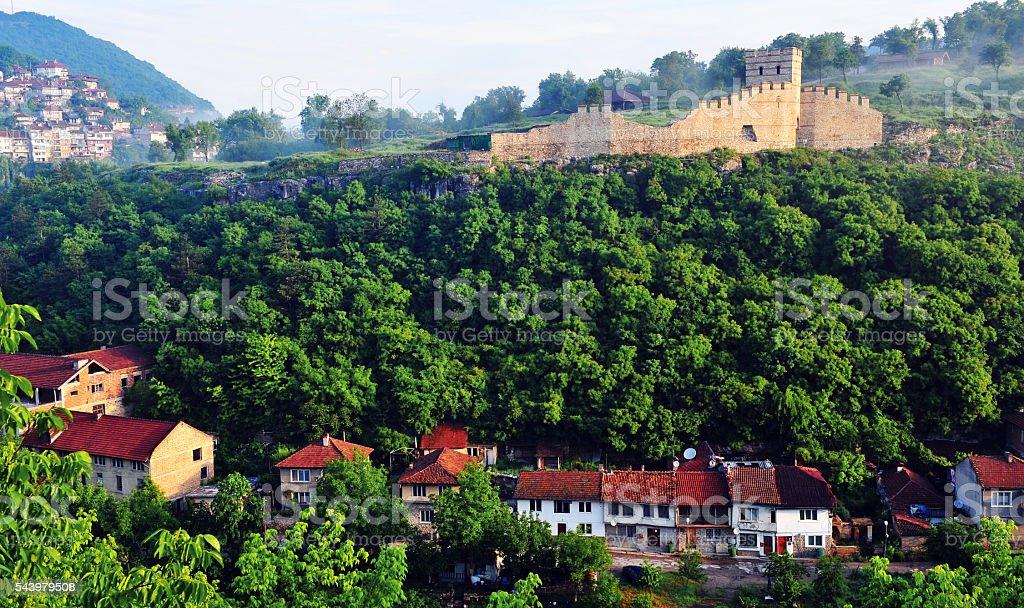 Old tower in Veliko Tarnovo stock photo