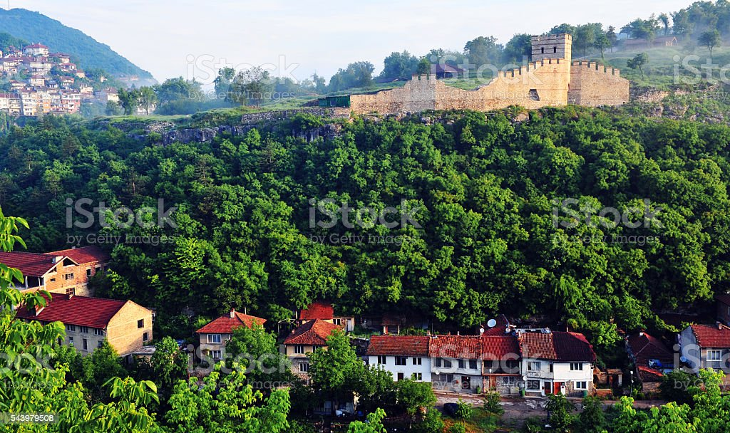 Old tower in Veliko Tarnovo stock photo
