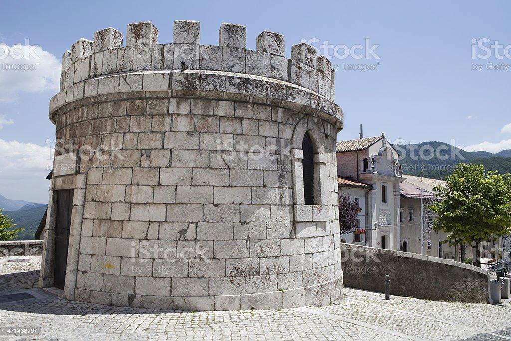 Old Tower, Opi, Abruzzi, Italy stock photo