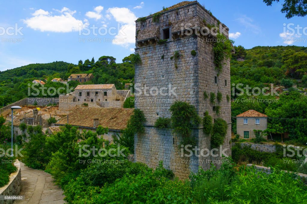 Old Tower, Sudurad stock photo