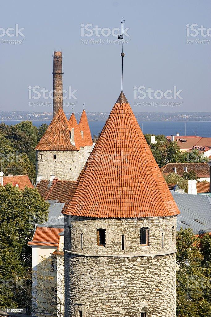 Old towers, Tallinn, Estonia royalty-free stock photo