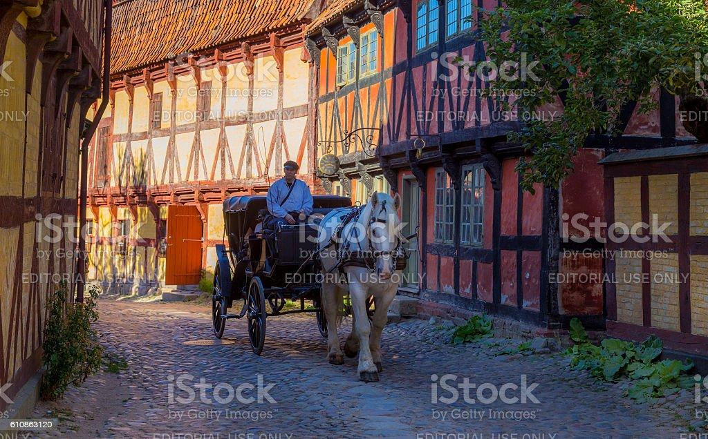 Old Town, Aarhus stock photo