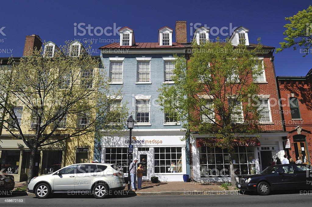Old Town Alexandria stock photo