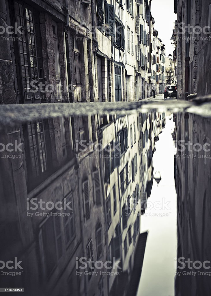 Old town alleys. stock photo