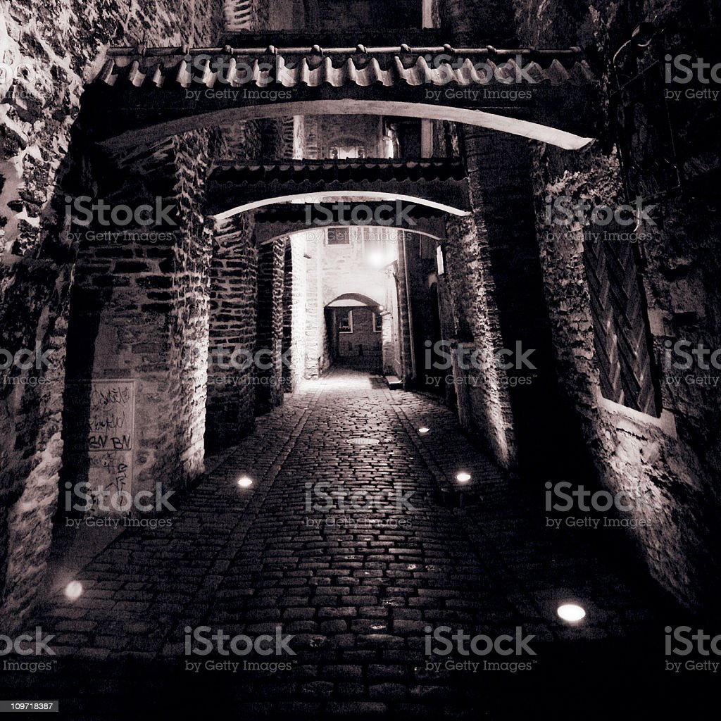 old town backstreet royalty-free stock photo