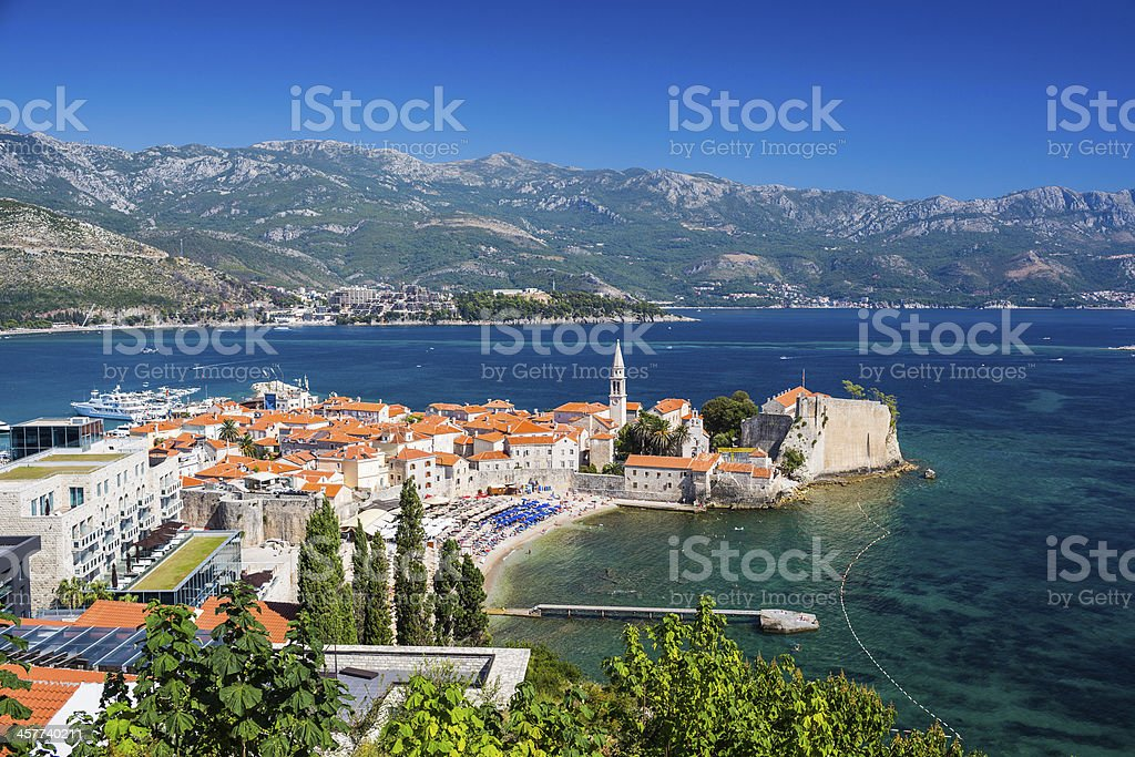 Old town Budva,  Montenegro stock photo