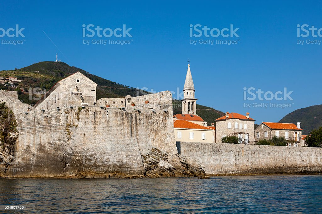 Old town Budva stock photo