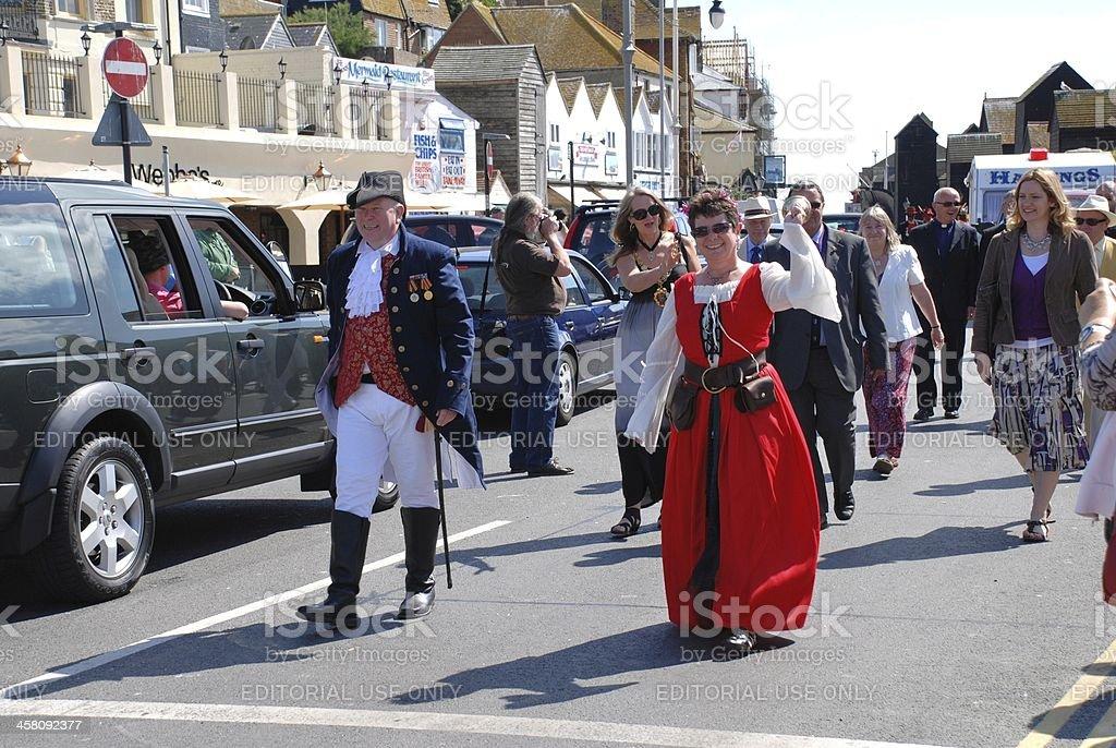 Old Town Carnival Week, Hastings stock photo