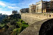 Old Town Citta Alta of Bergamo in Italy