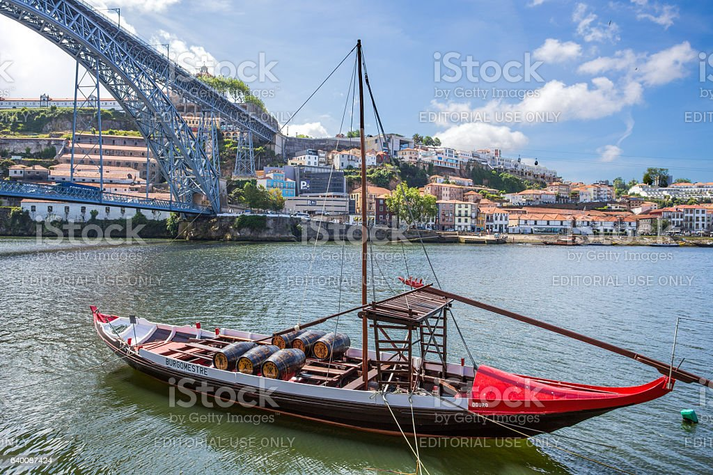 Old town cityscape on the Douro River stock photo