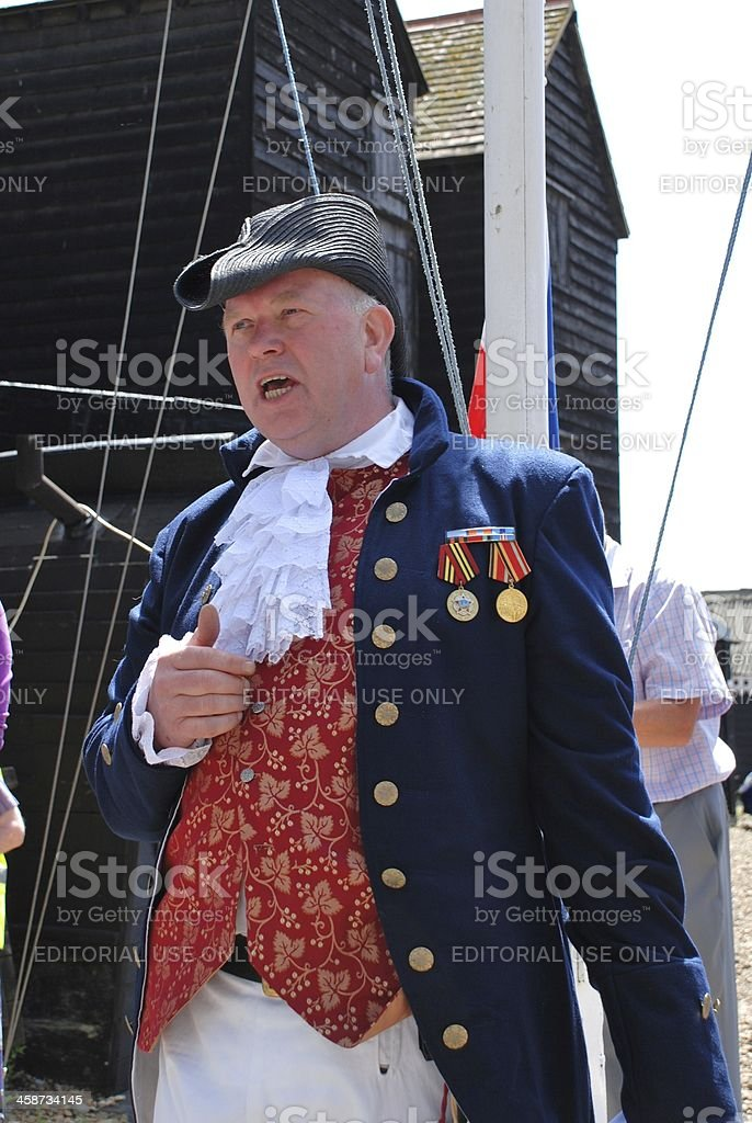 Old Town Crier, Hastings stock photo