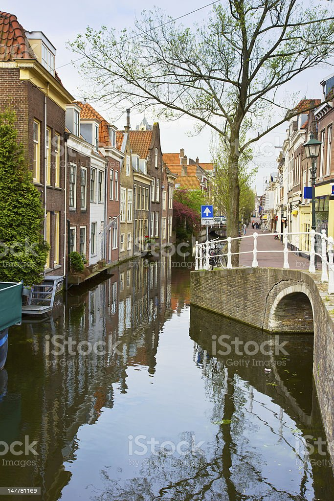 old town, Delft, Holland royalty-free stock photo