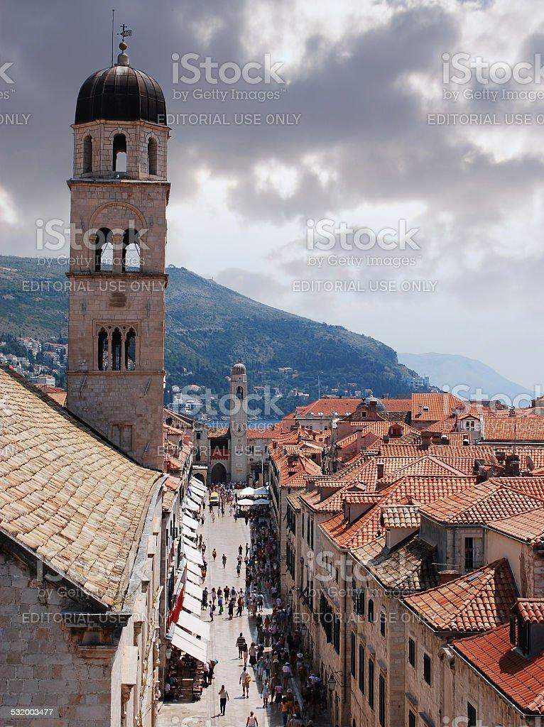 La ciudad antigua de Dubrovnik foto de stock libre de derechos