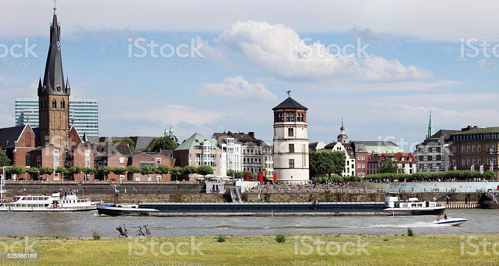 Altstadt Dusseldorf stock photo