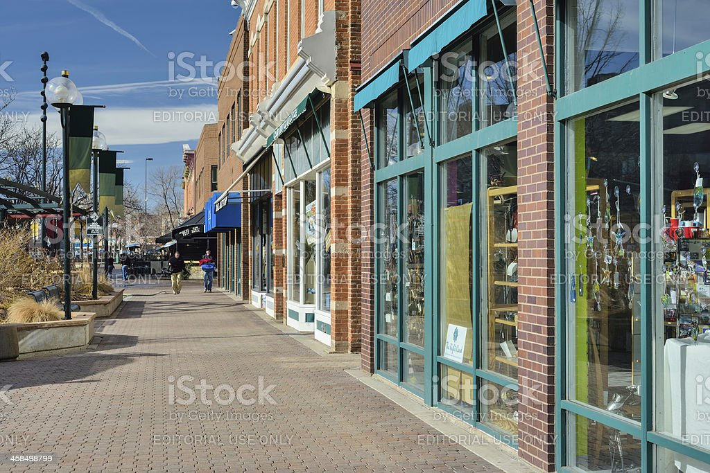 Old Town, Fort Collins, Colorado royalty-free stock photo